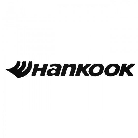 Hankook Tires Black Decal...