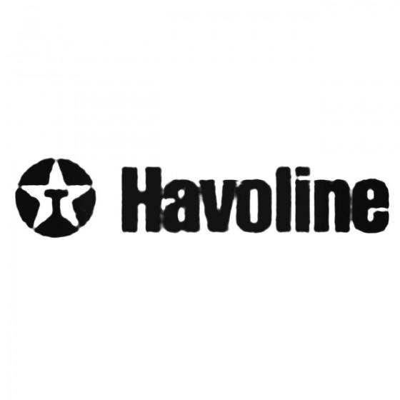 Havoline Decal Sticker