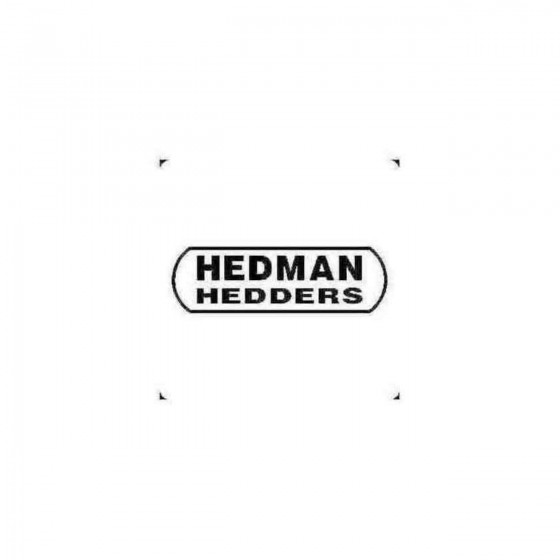 Hedman Decal Sticker