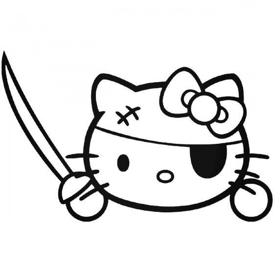 Hello Kitty Pirate 15 Decal...