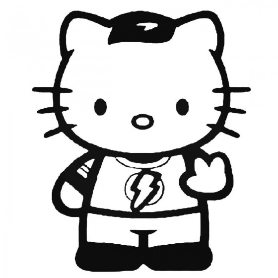 Hello Kitty Sheldon Cooper...