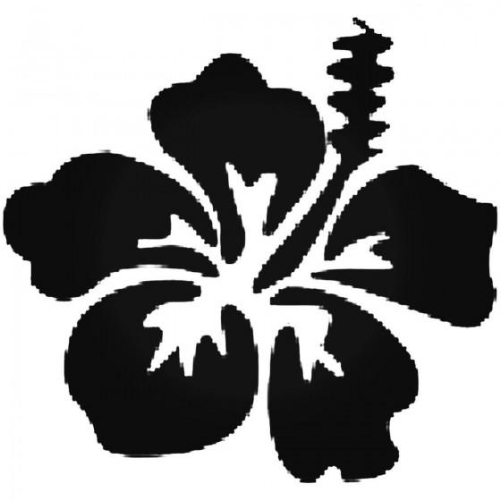 Hibiscus Flower Vinyl Decal...