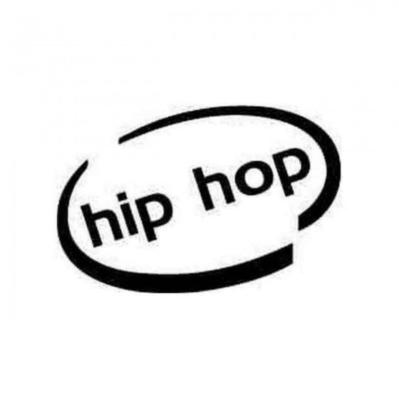 Hip Hop Oval Decal Sticker