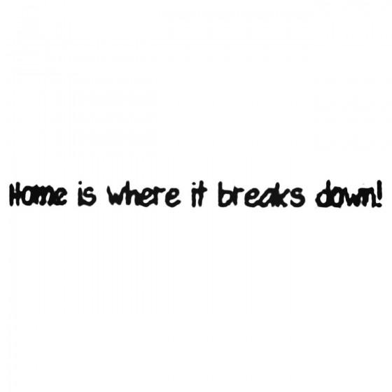 Home Is Where It Breaks...
