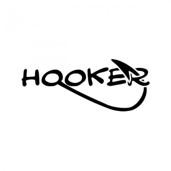 Hooker Fish Fishing Vinyl...