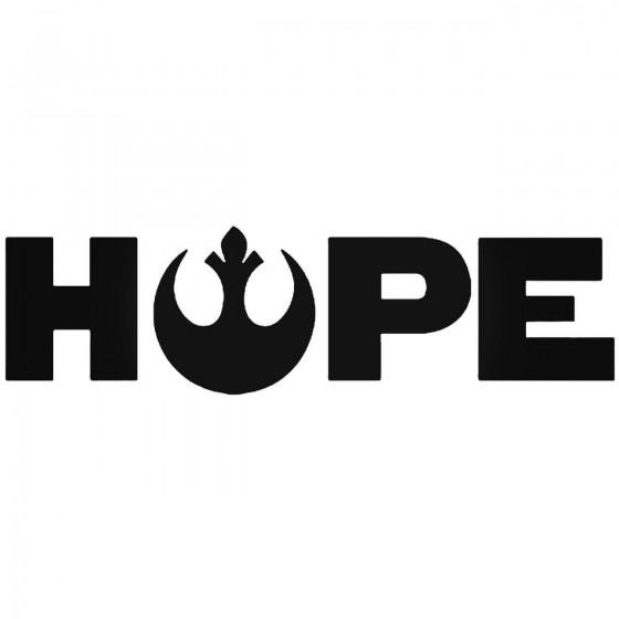 Hope Star Wars Vinyl Decal...