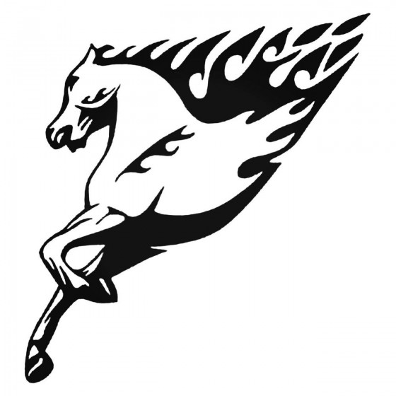 Horse With Flames Decal...