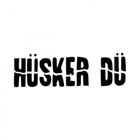 Husker Du Logo Vinyl Decal...