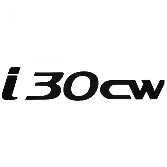 Hyunda I30cw Decal Sticker