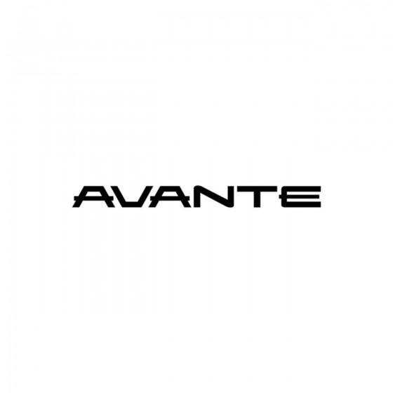 Hyundai Avante Vinyl Decal...