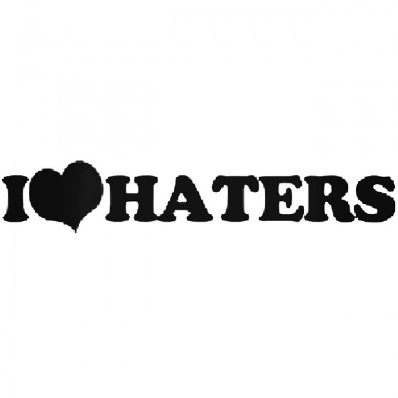 I Heart Haters Decal