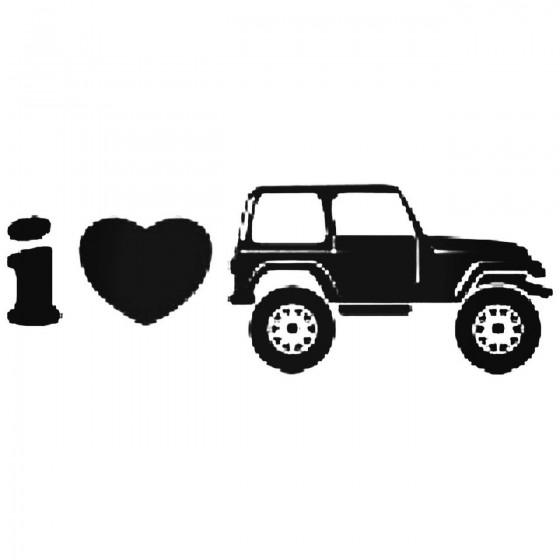 I Heart Jeep Cj Decal