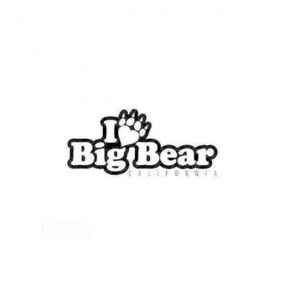 I Love Big Bear Decal Sticker
