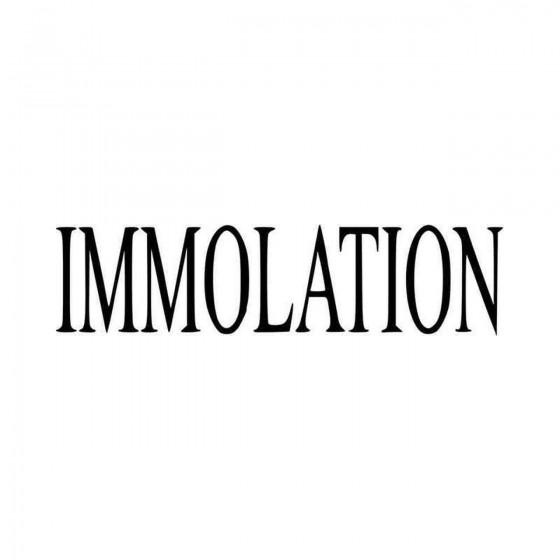 Immolation Band Logo Vinyl...