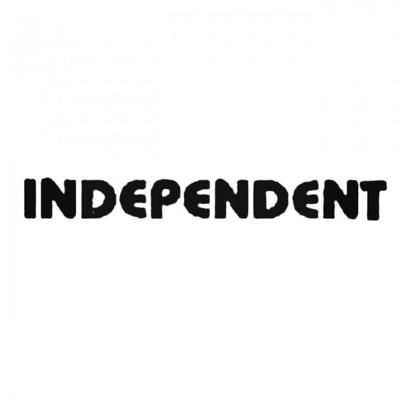 Independent Text Decal Sticker