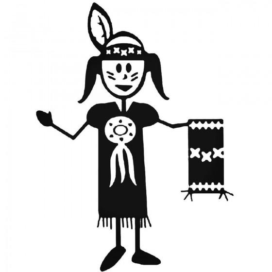 Indian Stick Figure 2 Vinyl...