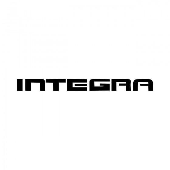 Integra Logo Car Vinyl...