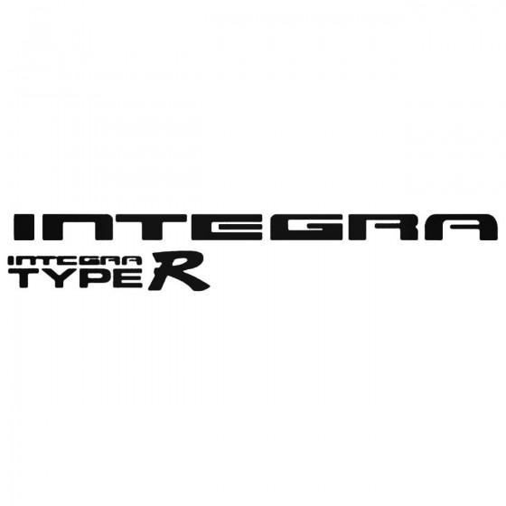 Integra Vinyl Decal Sticker 1