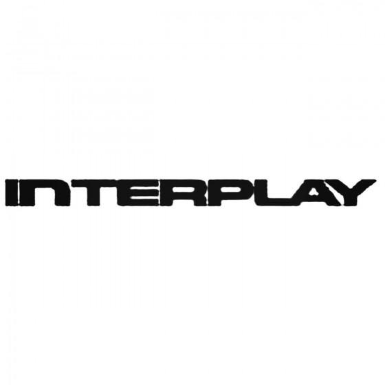 Interplay Decal Sticker