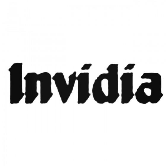Invidia Decal Sticker