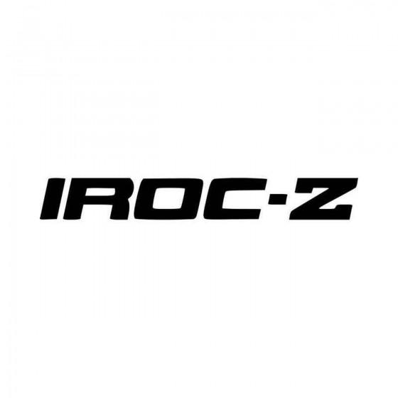 Iroc Z Banner V Vinyl Decal...