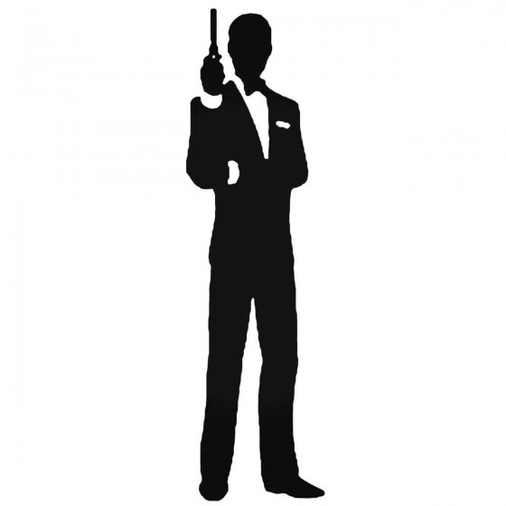 James Bond Decal Sticker
